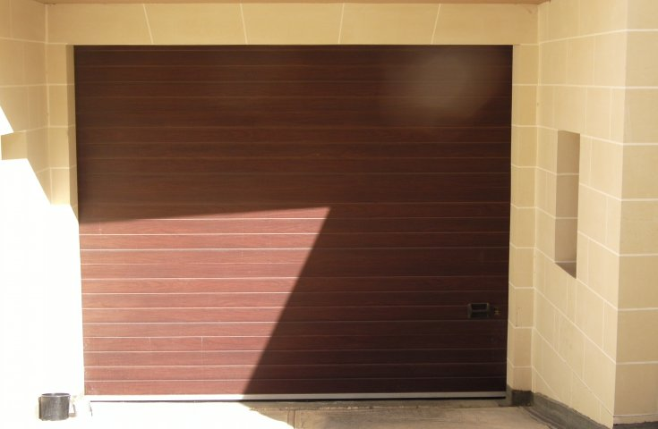 Garage Doors Malta - Mahagony Plain